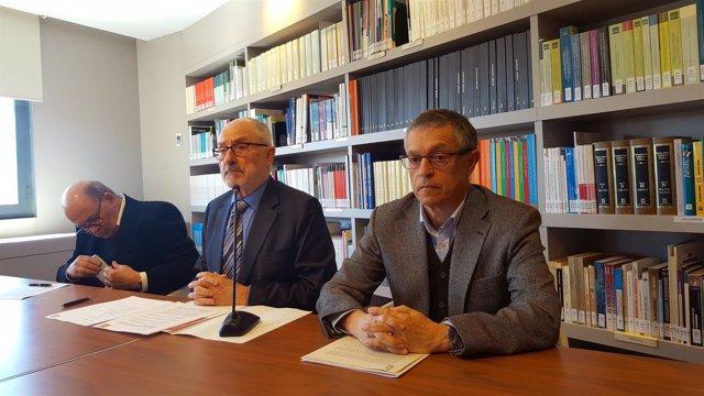 El Síndic de Greuges, Rafael Ribó, y el geólogo Josep Giner