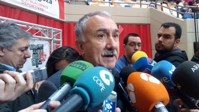 Pepe Álvarez este jueves en la Asamblea Anual Confederal de UGT