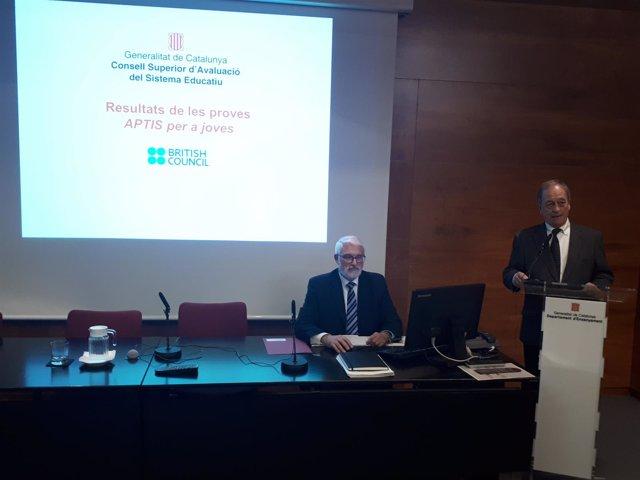 El pte.Del Consell Superior d'Avaluació de Catalunya, Joan Mateo