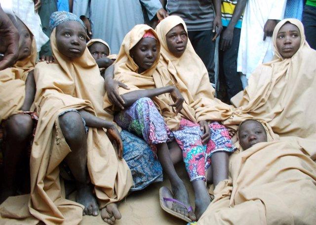 Niñas liberadas por Boko Haram en Dapchi