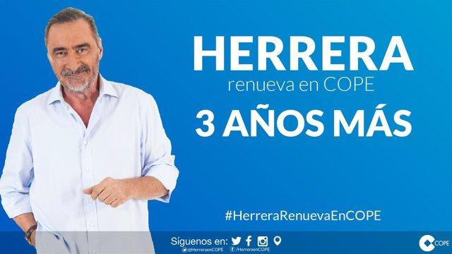 Carlos Herrera renueva el contrato con COPE por tres años más