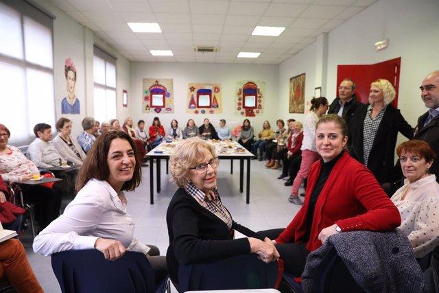 Manuela Carmena, Celia Mayer y Esther Gómez