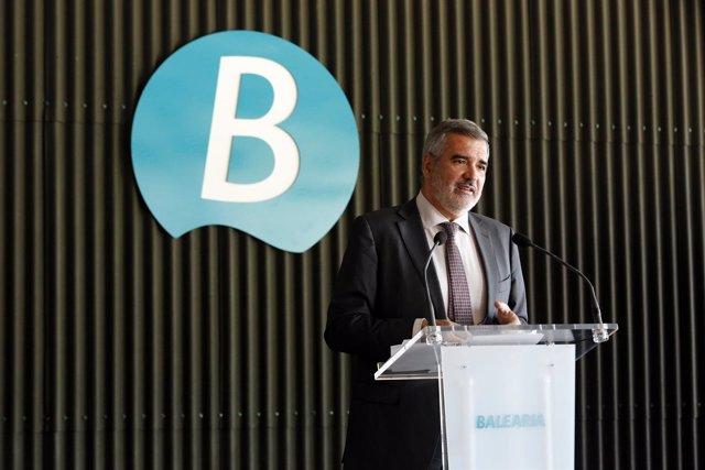 El presidente de Baleària ha ofrecido los resultados de 2017 en rueda de prensa