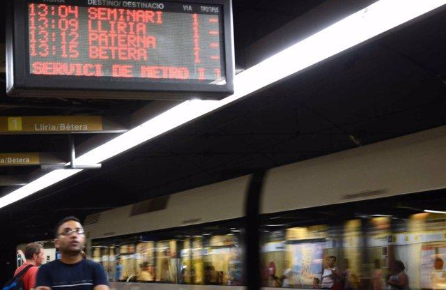 Metre en moviment, Metrovalencia, comboi, metre, FGV