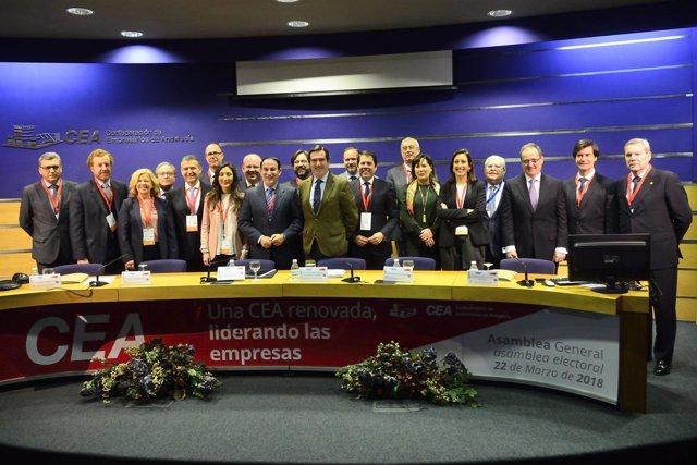 Nota De Prensa Y 3 Fotos. El Reelegido Presidente De Cea Propone Un Gran Pacto P