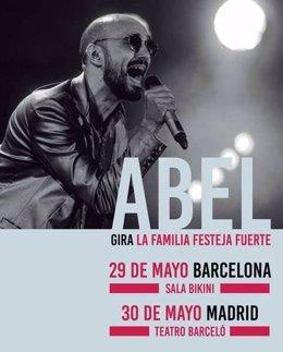 El cantante Abel Pintos actuará en Barcelona y Madrid en mayo