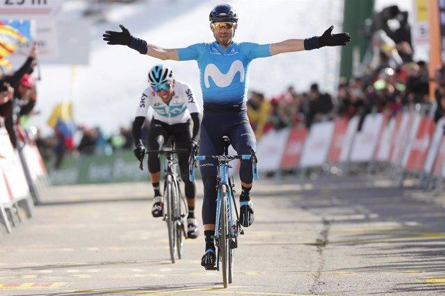 Alejandro Valverde gana la cuarta etapa de la Volta a Catalunya