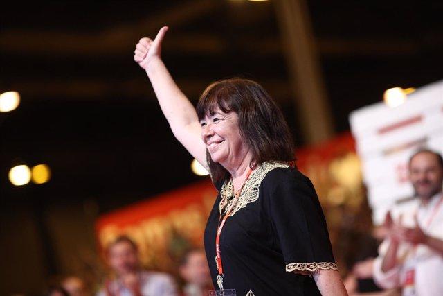 Cristina Narbona durante el Congreso del PSOE