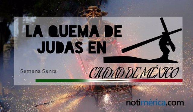 Quema de Judas en Ciudad de México portada