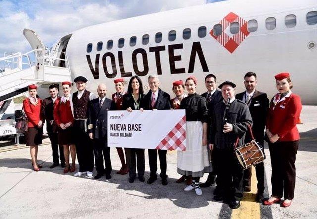 Volotea inaugura nueva base en Bilbao