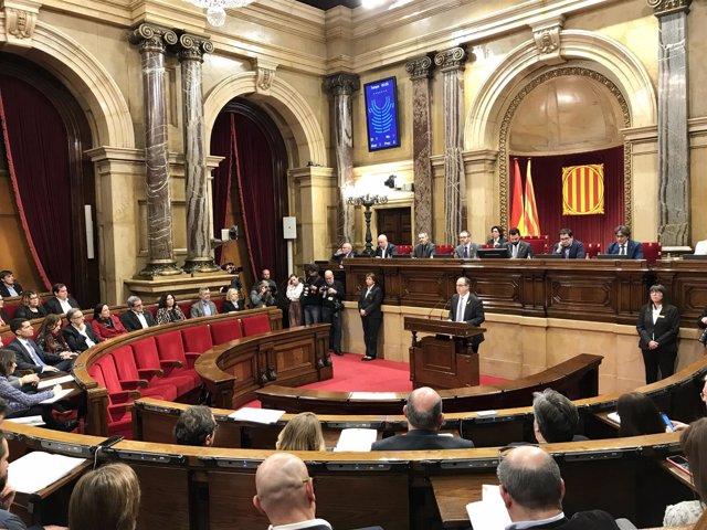 Pleno de investidura de Jordi Turull (JxCat) en primera vuelta