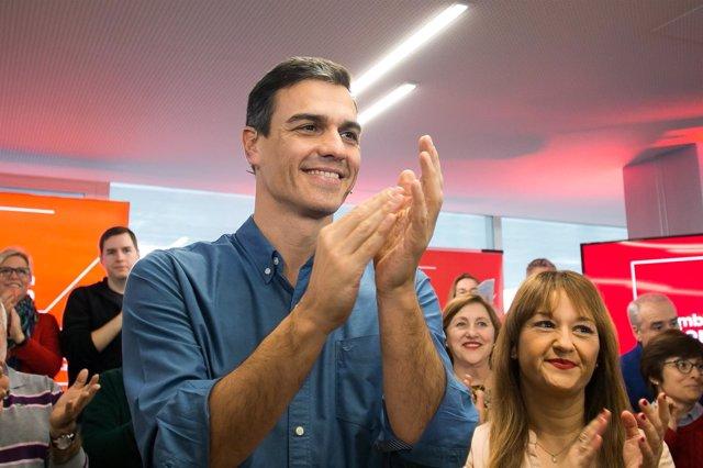 Pedro Sánchez, durante la asamblea abierta en Sevilla