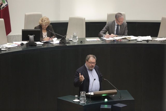 Javier Barbero en el pleno