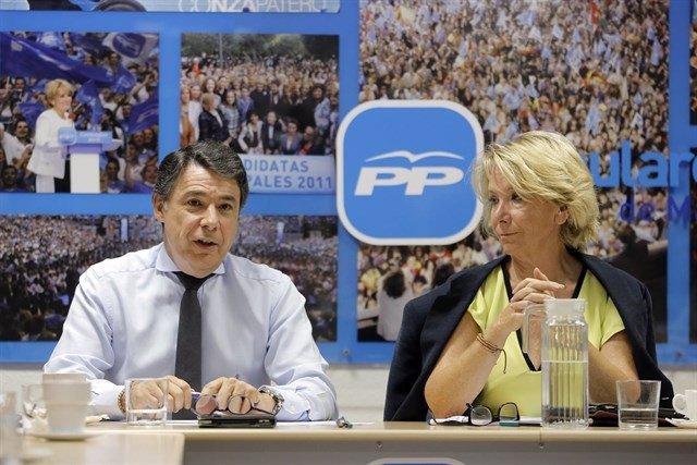Los expresidentes regionales Ignacio González y Esperanza Aguirre