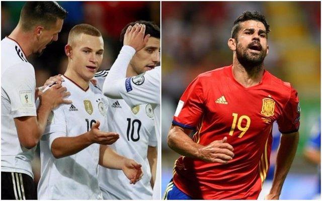 Montaje para el Alemania - España