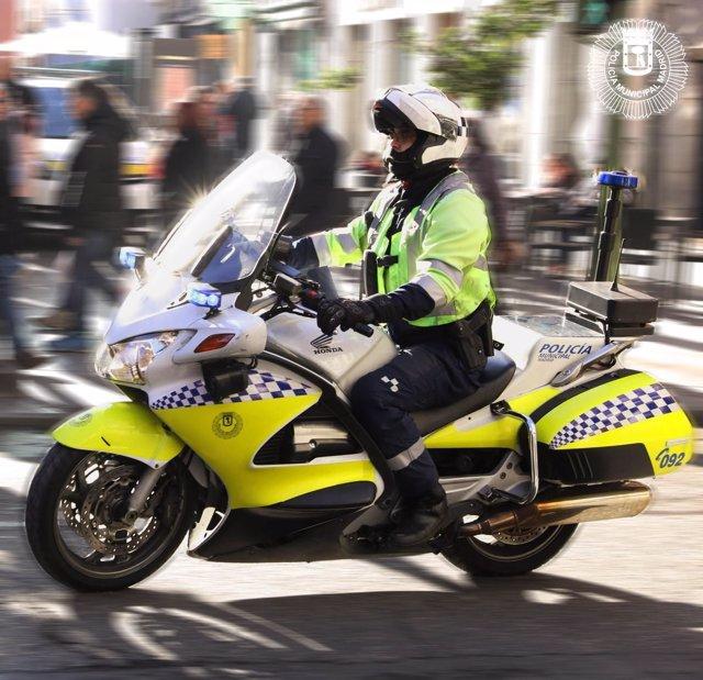 Motorista de la Policía Municipal de Madrid