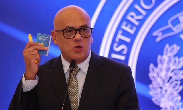 El ministro de Comunicación e Información de Venezuela, Jorge Rodríguez