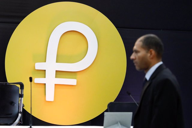 Símbolo de la criptomoneda petro en Venezuela