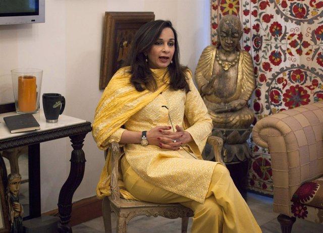 La senadora paquistaní Sherry Rehman.