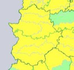 Avisos por viento en Extremadura