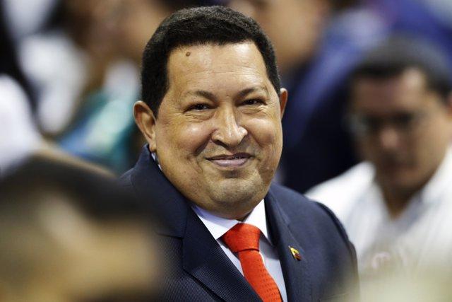 El comandante Hugo Chávez.