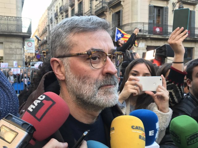 El líder de la CUP en el Parlament, Carles Riera