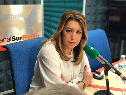 """Susana Díaz estará """"vigilante"""" para que los PGE de 2018 no supongan nuevo """"maltrato"""" a Andalucía"""