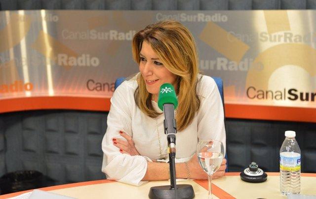 La presidenta de la Junta de Andalucía, Susana Díaz, en una entrevista