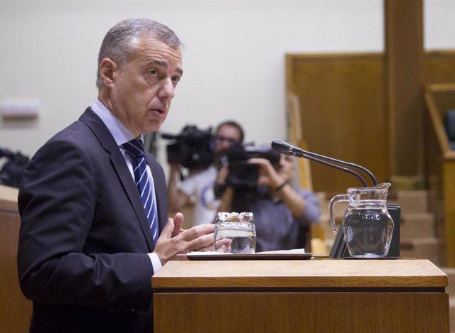 Foto de archivo de Iñigo Urkullu en el Parlamento vasco