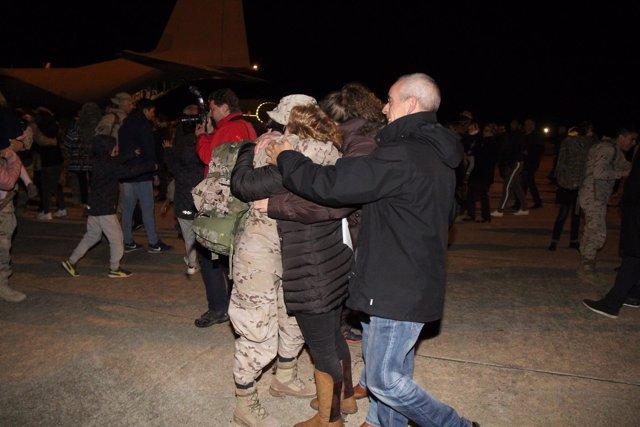 Militares a su llegada a Salamanca. 23-03-18