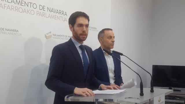 Sergio Sayas y Juan Luis Sánchez de Muniáin, parlamentarios de UPN.