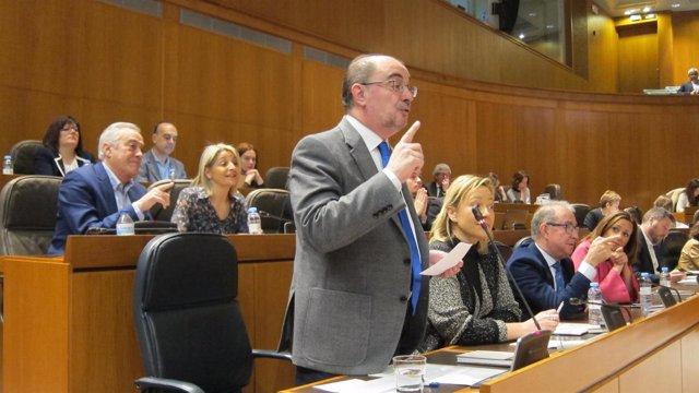 El presidente de Aragón en el pleno