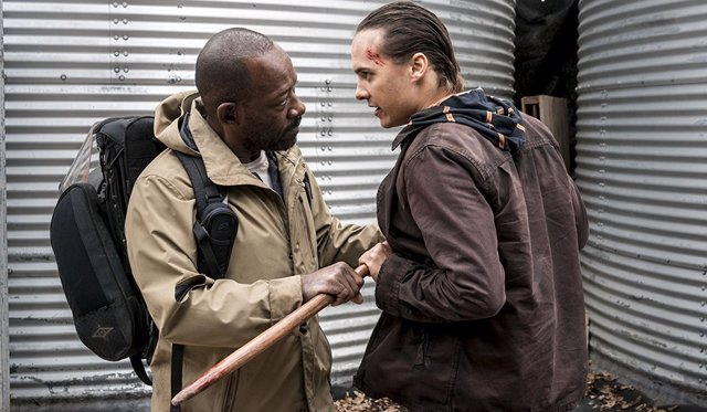Frank Dillane y Lennie James en Fear the Walking Dead