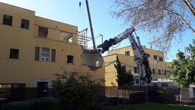 Demolición edificios en el puerto de Palma