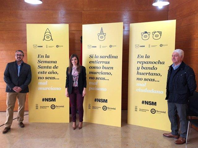 Rebeca Pérez y representantes de Ferrovial presentan dispositivo limpieza