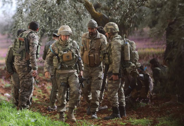 Foto de archivo de soldados turcos en Afrin, Siria