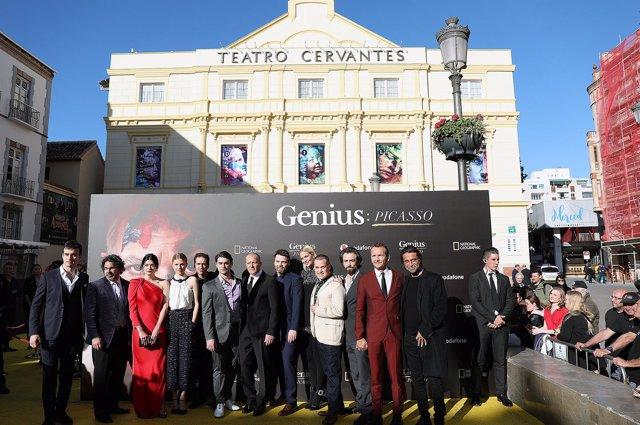 Estreno mundial de Genius Picasso en el teatro Cervantes de Málaga capital marzo
