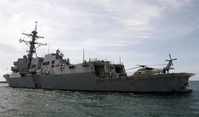 Foto de archivo del USS Mustin.
