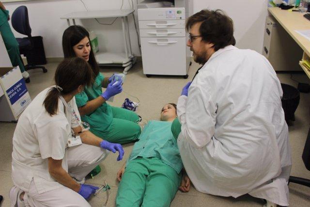 Simulacro del Equipo de Respuesta Rápida del Hospital Josep Trueta