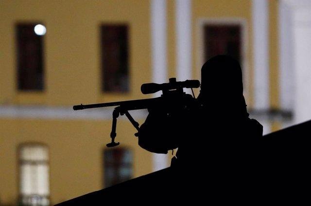 Foto de archivo de un miembro de las fuerzas especiales turcas.