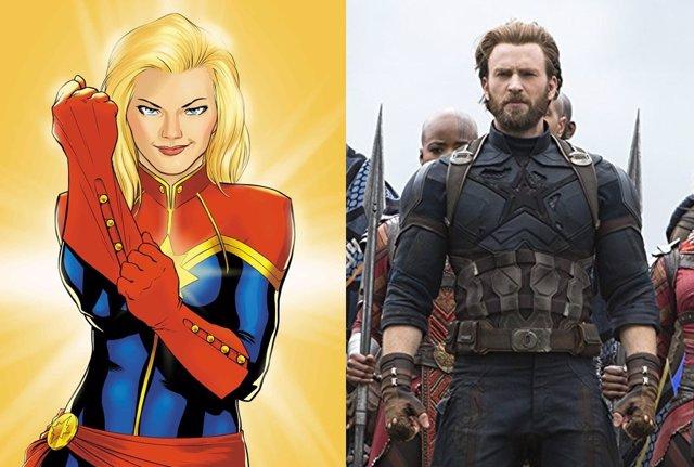 Capitana Marvel y Capitán América