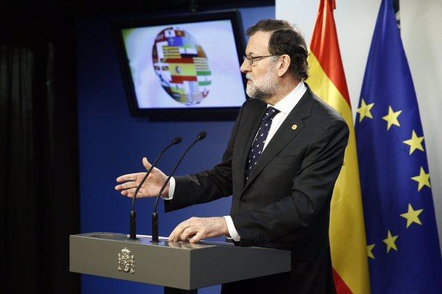 Rueda de prensa de Rajoy tras la cumbre en Bruselas