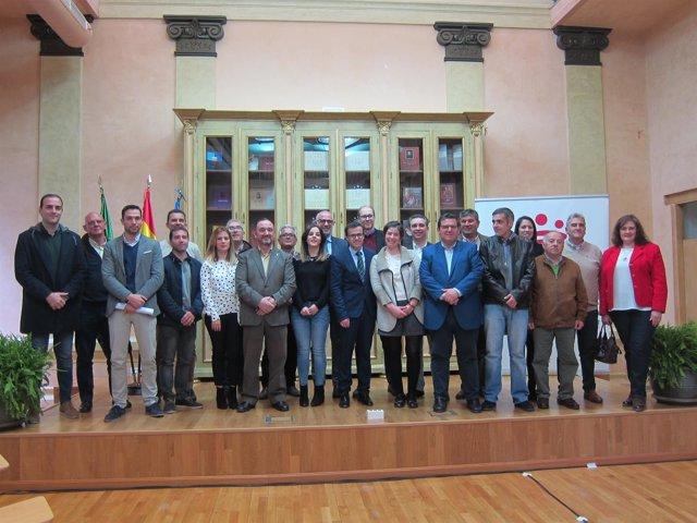 Alcaldes de los municipios acogidos al PIEM