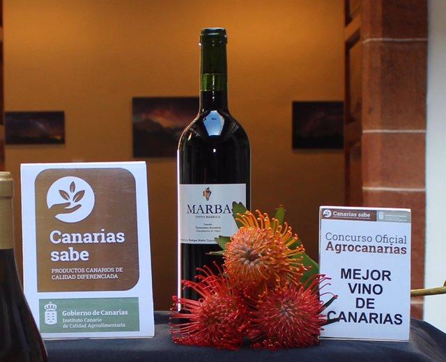 Nota De Prensa Marba Tinto Barrica, De La Do Tacoronte Acentejo, Mejor Vino De C