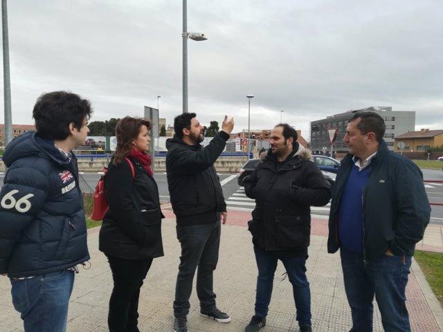 Ciudadanos con vecinos de los Lirios en Logroño