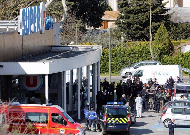 Supermercado atacado en Trèbes