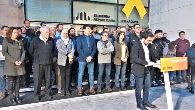 Pere Aragonès y dirigentes de ERC