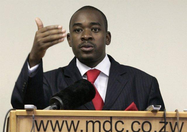 Nelson Chamisa, líder del Movimiento por el Cambio Democrático (MDC)