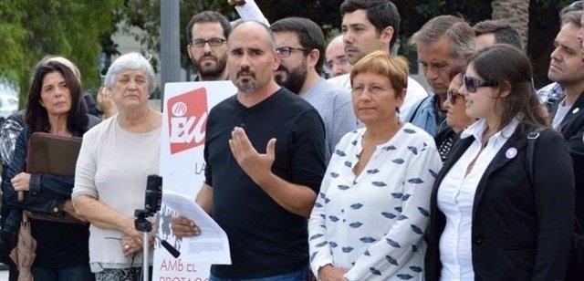 David Rodríguez, en el centro de la imagen