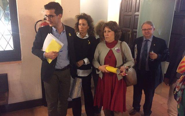PDeCAT, ERC y la CUP de Lleida salen del Pleno al saberse los autos de prisión